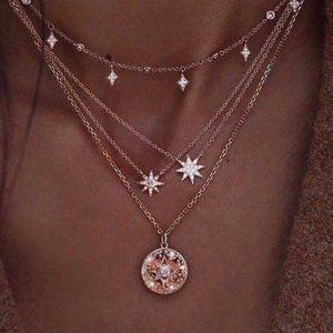 Boho Chic Stars Multilayer Necklace